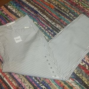 NWT Old Navy Pixie highrise blue/white dress pants